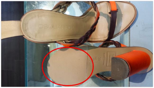 【DSQUARED2】サンダル靴底補強・滑り止め