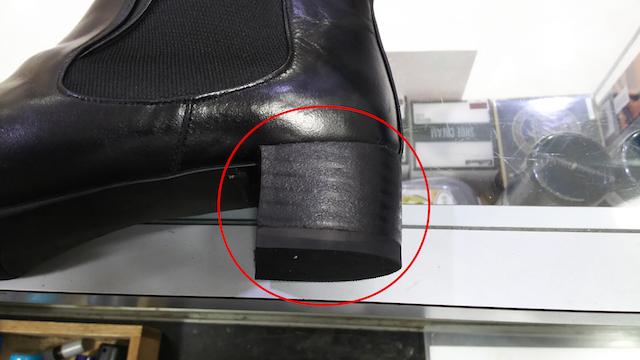 【RIZ(リズ)】ヒールの革破れ修理方法
