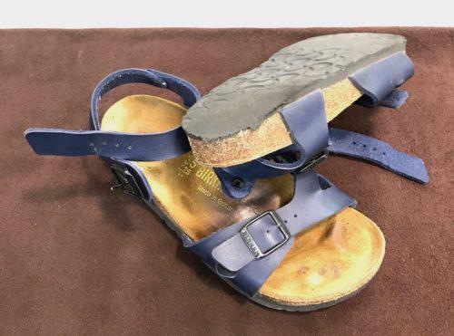 ビルケンシュトック靴底修理前