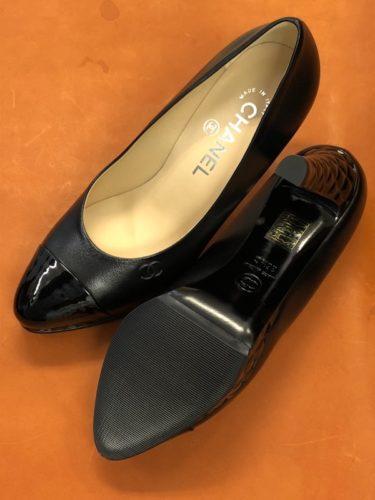 シャネル靴底補強後