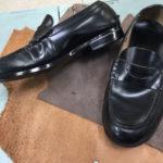 学生靴ほつれ修理後