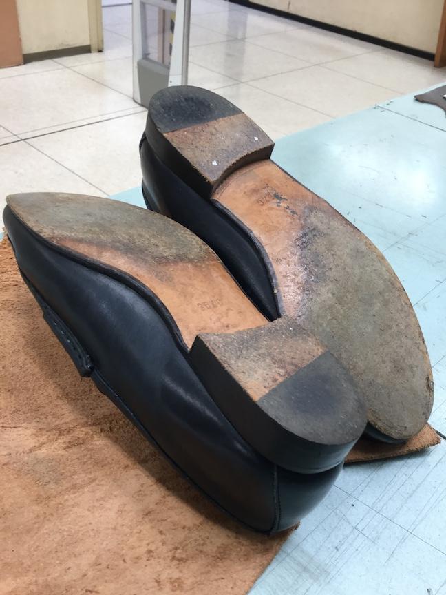 グッチ靴底修理前