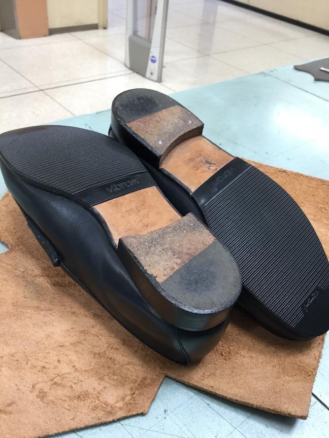 グッチローファー靴底修理後