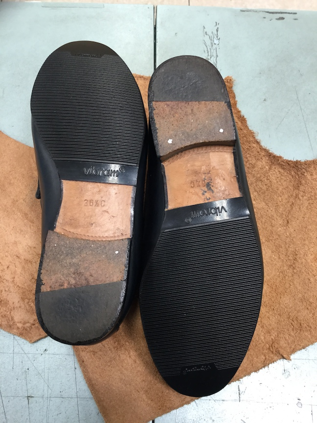 グッチローファー靴底修理後2