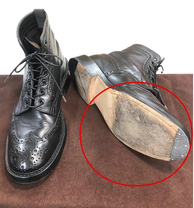 トリッカーズ靴底滑り止め修理前