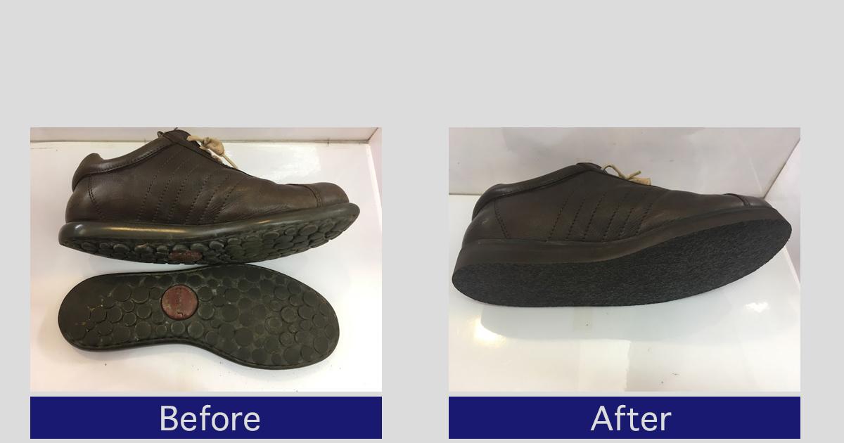 【カンペール】割れた靴底の修理方法