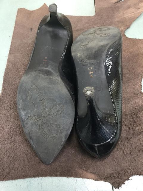 銀座かねまつ靴修理前