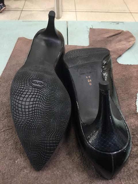 銀座かねまつ靴修理後