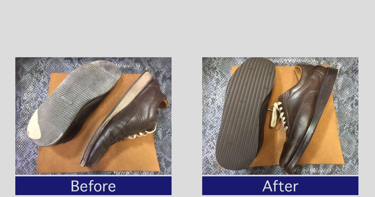 【REGAL リーガル】レザースニーカー靴底の修理