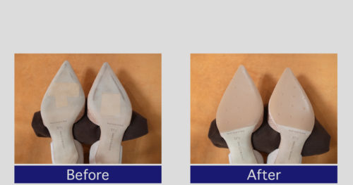 マノロブラニク靴底滑り止め修理事例