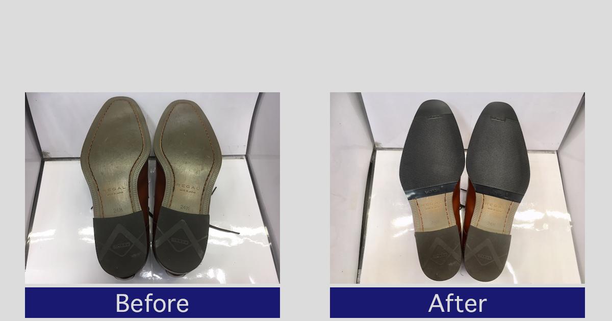 【リーガル】Uチップ靴底補強とメンテナンス方法