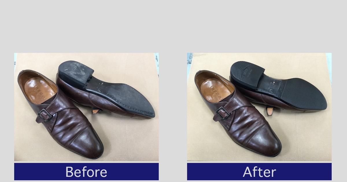 リーガルかかと修理・靴底補強事例