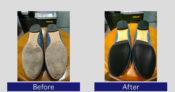 フェラガモ靴底補強・かかと修理事例2