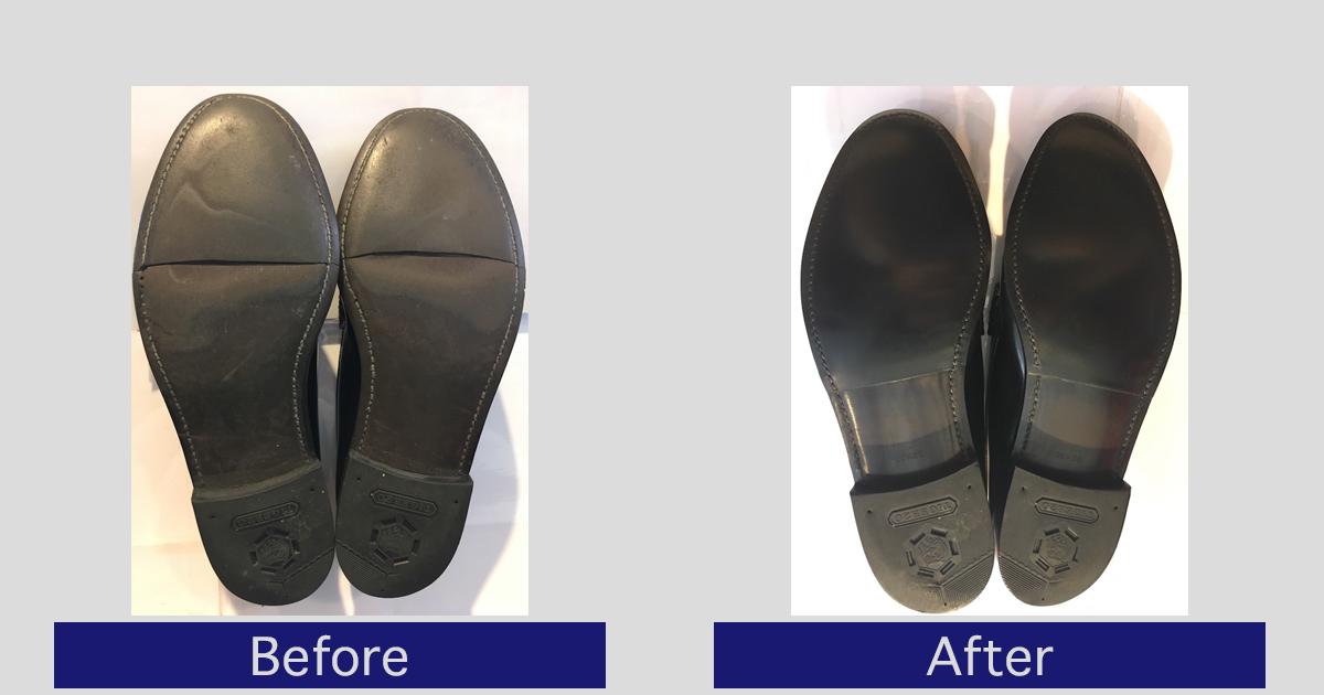 リーガル靴底割れ修理事例