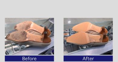 フェラガモ靴底補強・かかと修理事例