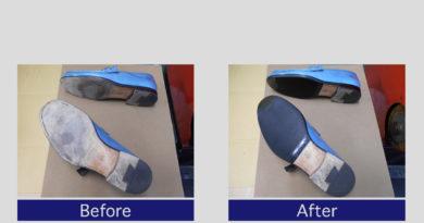 フェラガモ靴底ラバー補強事例