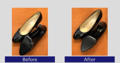 シャネル靴底滑り止め事例