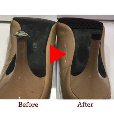 ダイアナ靴かかと修理