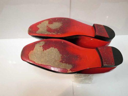 クリスチャン・ルブタン靴底修理前