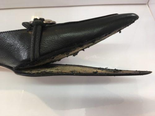 グッチ靴底剥がれ修理前2