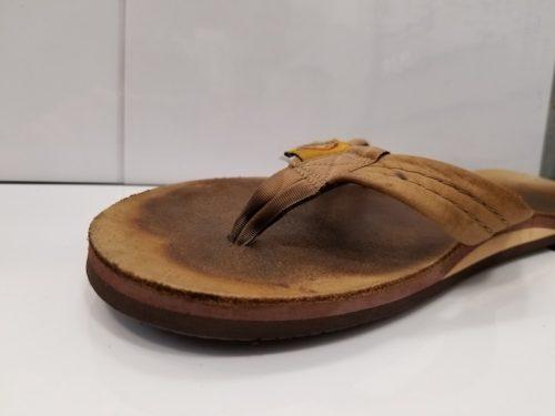 サンダル靴底修理後のつま先