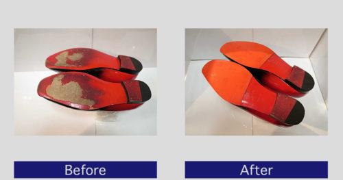 クリスチャンルブタン靴底補強・滑り止め修理