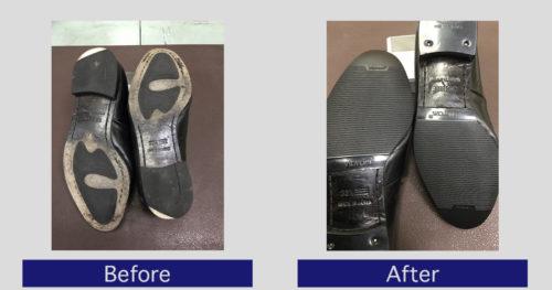 マドラス靴底補強・滑り止め修理