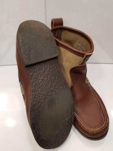 ラッセルモカシン靴底修理前1