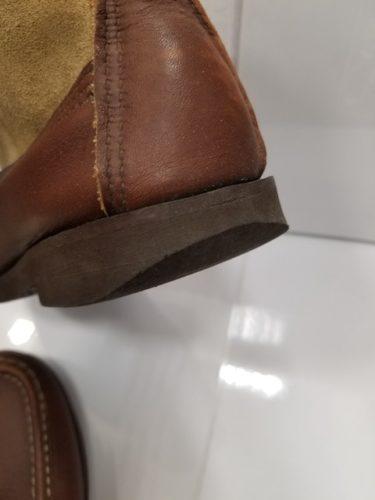 ラッセルモカシン靴底修理前2