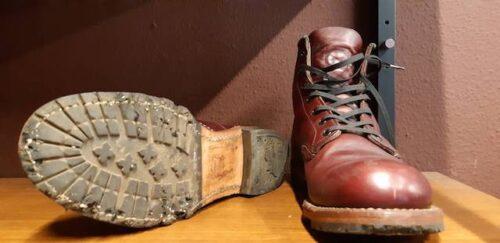 RED WINGベックマン靴底修理前